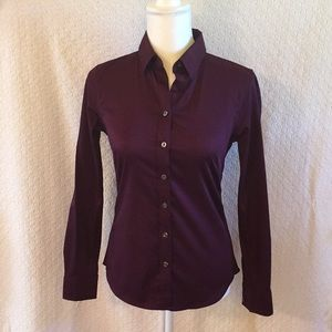 Banana republic plum-colored nine iron button down